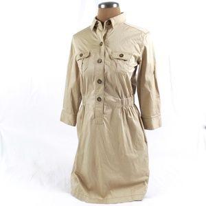 Loft Safari Shirt Dress - S
